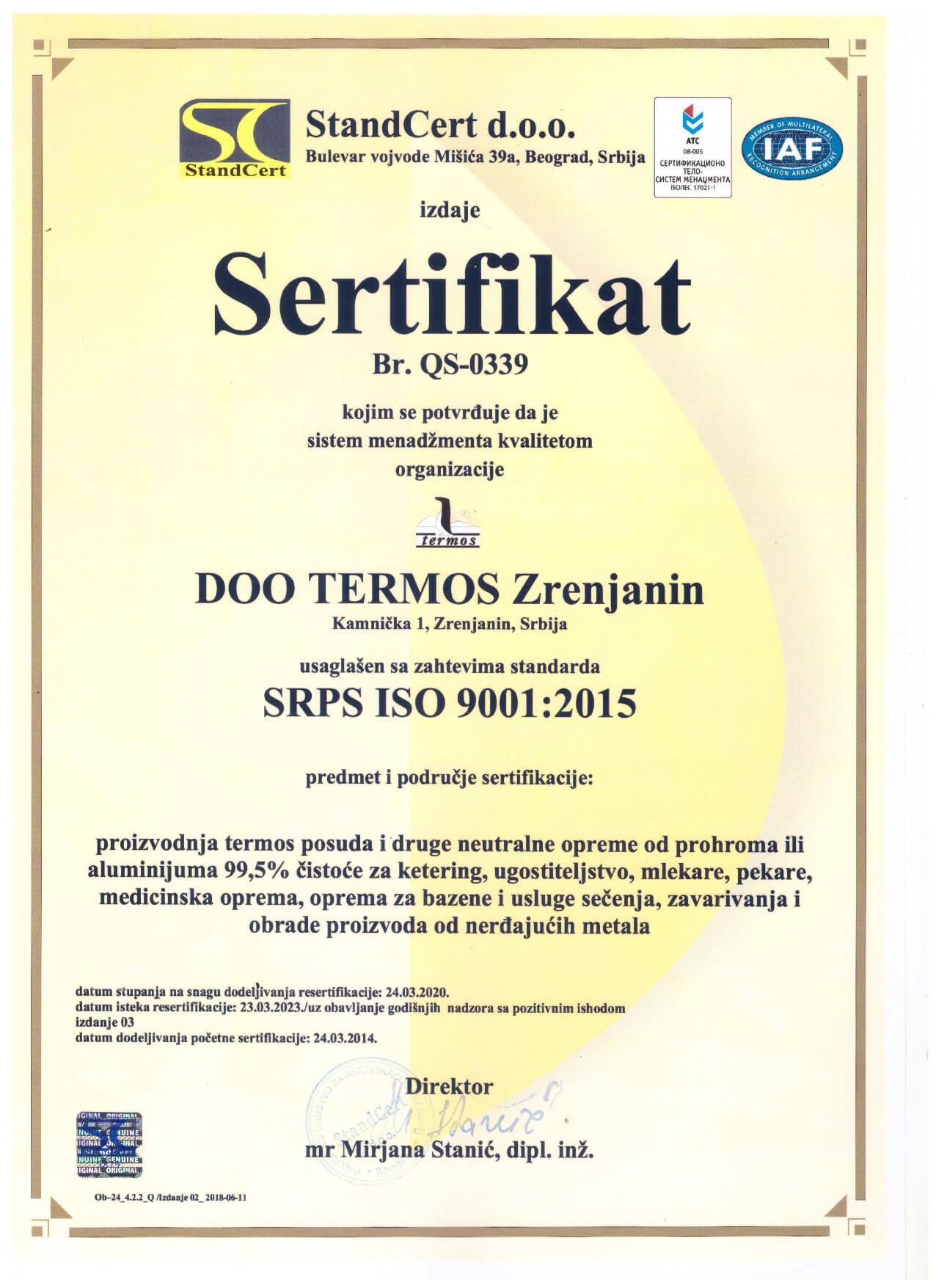 sertifikat sr